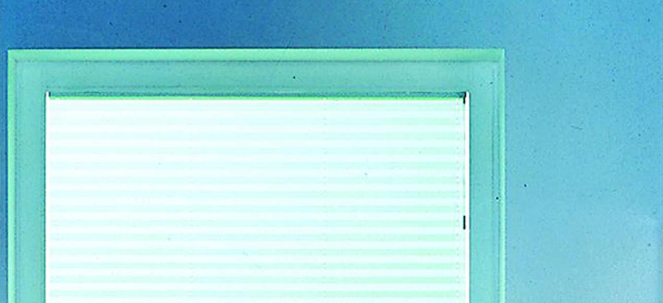 Das Bild zeigt einen abdunkelnden Plissee-Blendeschutz.