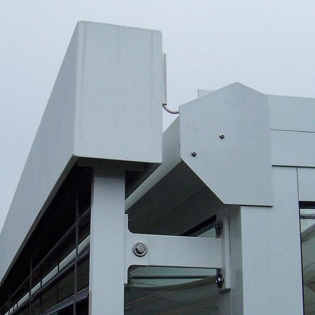 Das Bild zeigt die Konstruktion der Raffstoren-Jalousien.