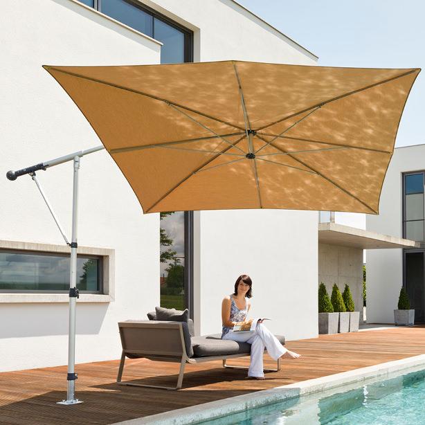 Das Foto zeigt ein Sonderbau-Sonnenschirm.